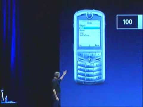 Steve Jobs presents the iTunes Phone