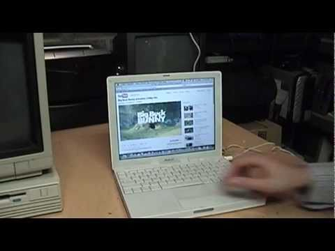 Apple iBook G4 unboxing, test & first impressions