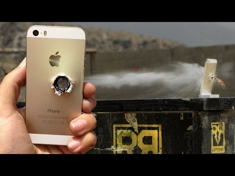 iPhone 5s vs 50 cal – RatedRR Slow-Mo Torture Test