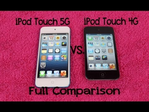 iPod Touch 5G Vs 4G Comparison | Speed Test & Hardware  | Apple iTouch 5th Gen vs 4th Generation