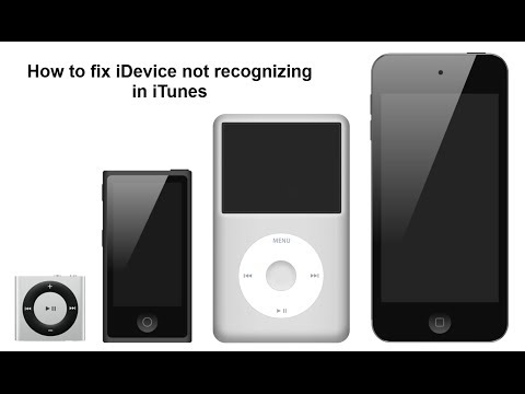 How to fix i-Device not recognizing in iTunes
