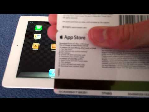 How to Put an App Store / iTunes Gift Card on Your Device : New iPad / iPhone / iPod Touch