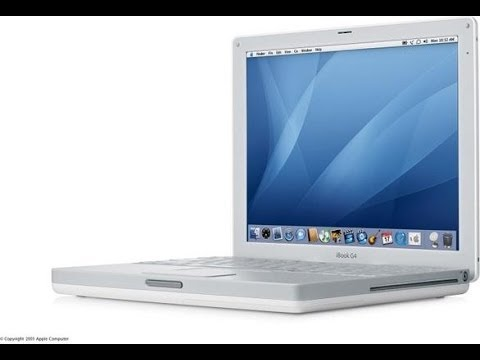 Apple iBook G4 (Mid 2005) – Unboxing And First Boot – OS X Tiger