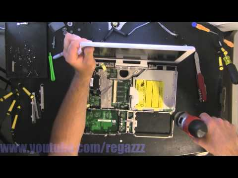 Apple iBook G4 Laptop A1133 take apart, disassembly, how-to video (nothing left) HD