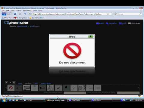 How to remove a Do not disconnect screen and fix a frozen ipod from your itunes and computer