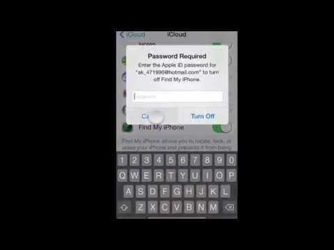 Remove iCloud Account Without Password In Setting iPhone 4/4S/5/5C/5S iOS 7.0.0-7.1.1