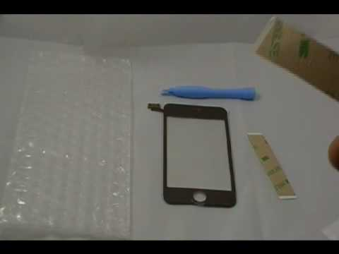 Apple iPod Touch 2nd Generation Glass Screen and Digitizer With Adhesive