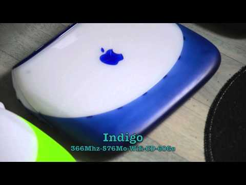 My 4 iBook's Clamshell Indigo, Key Lime and 2 Special Edition / Graphite – Mes iBook Palourde  – G3