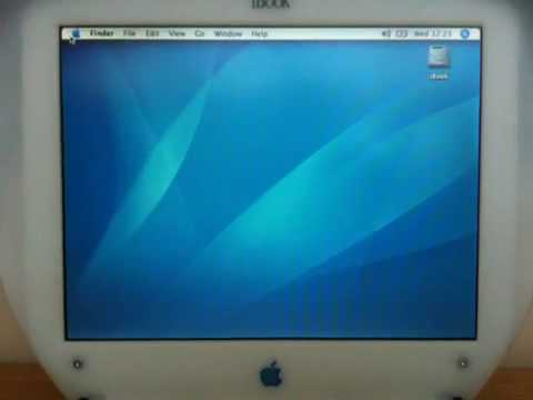 Apple iBook first boot