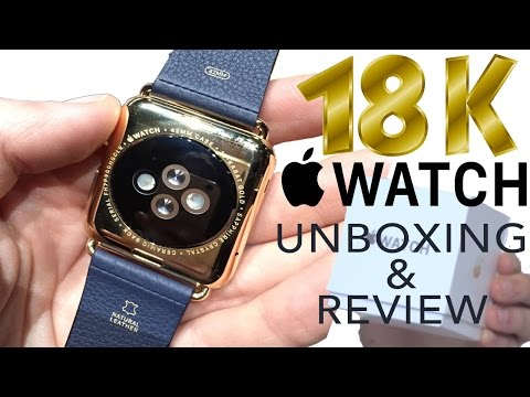 UNBOXING 18K CARAT GOLD APPLE WATCH AND REVIEW ASHENS KSI ALI A W2S  iwatch