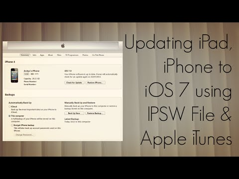 Updating iPad, iPhone to iOS 7 using IPSW File & Apple iTunes – How To Tutorial