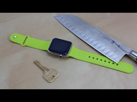 Apple Watch Scratch Test | Apple iWatch Sport Fake Stress Test w. Knife & Key