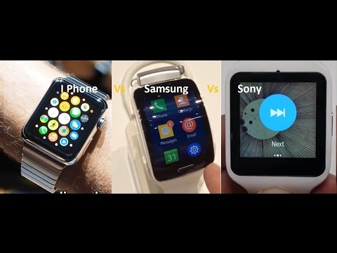 apple iwatch Vs samsung gear Vs sony s watch 2015