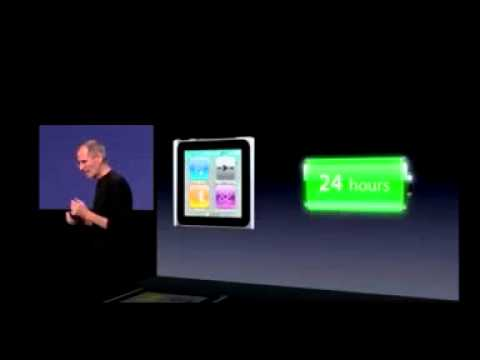 New iPod Nano 6G (Multi-Touch Screen) from Apple's September 1st Live Event (Gizmodo)