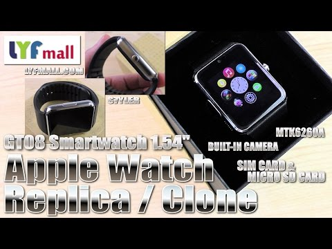 Apple Watch Replica/Clone (Hands-on/Unboxing) GT08 Smartwatch, Cam, SIM & MicroSD – Video by s7yler