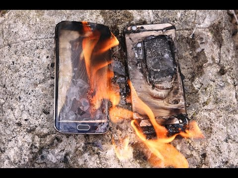 Burning Samsung Galaxy S6 Edge VS iPhone 6 Fire Test – Will It Melt?