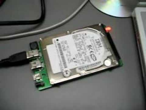 A dying Macintosh iBook hard drive