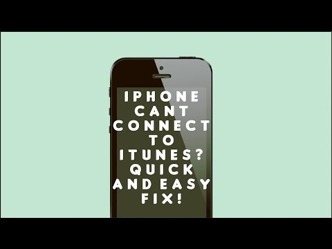 Iphone can't connect to itunes? – QUICK AND EASY FIX