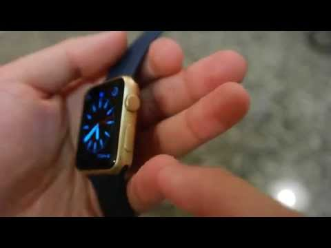 Apple Watch Sport Gold Unboxing