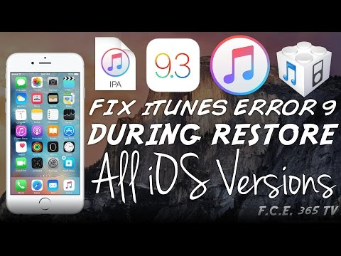 How to Fix iTunes Error 9 on iTunes Restoring iPhone / iPad (All iOS Versions)