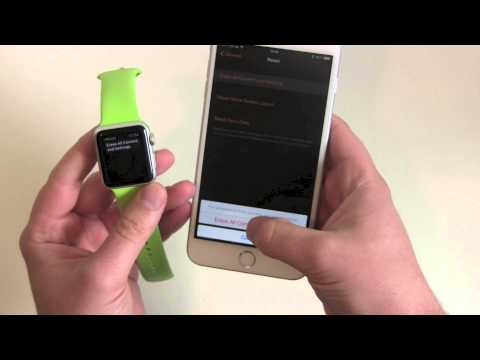 How to reset the Apple Watch