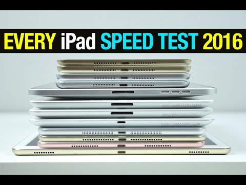 Every iPad Speed Test Comparison 2016!