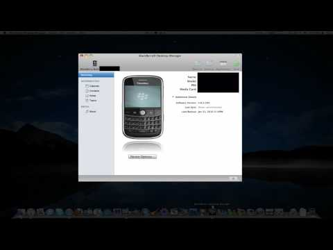 How to Sync a BlackBerry with a Mac and iTunes