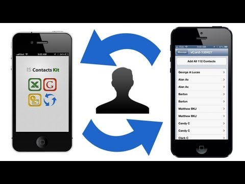 How to TRANSFER CONTACTS between iPhone, iPod, iPad without a computer