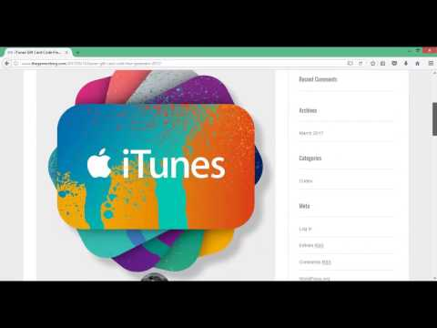 ?Free iTunes Codes|Gift Card Codes Generator 2017 Money Working Online|Tutorial with PROOF?