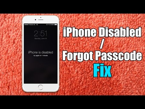 Iphone Disabled / Forgot Passcode iPhone Fix – Hard Reset for iPhone 6/5s/5c/5/4s
