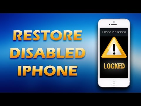 iPhone Disabled Connect To iTunes Recovery All Model