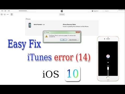 Easy Fix iTunes Error 14 iOS 10.0.1 while Installing or Update – 100% Solved