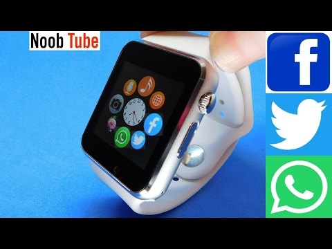 Fake Apple i Watch Clone A1 SmartWatch & Camera Android iphone Smart Phone Facebook Twitter iwatch