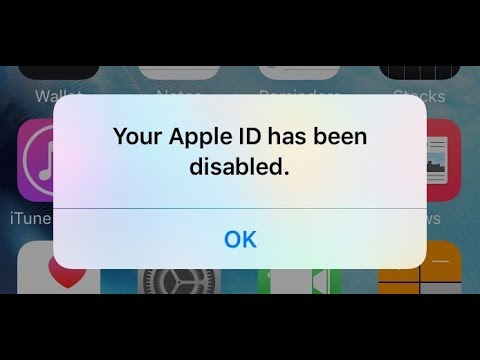APPLE ID DISABLED!! PROBLEM SOLVED!!!